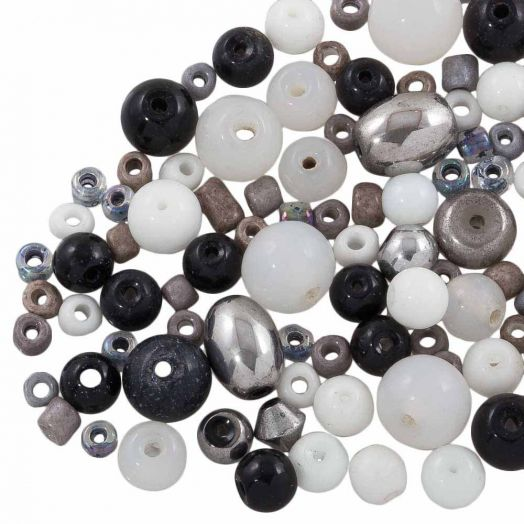 Advantage Package - Glass Beads (Various Sizes) Mix Color (100 grams)