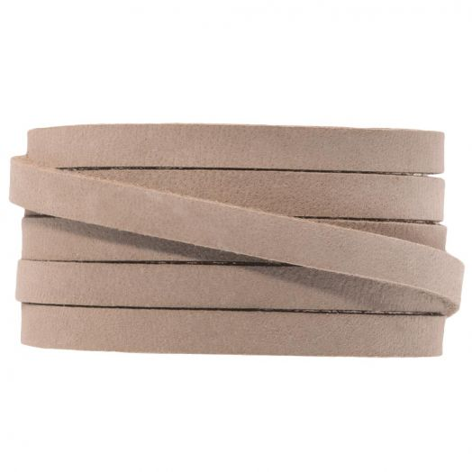 DQ Flat Leather (5 x 2mm) Cream Brown (1 Meter)
