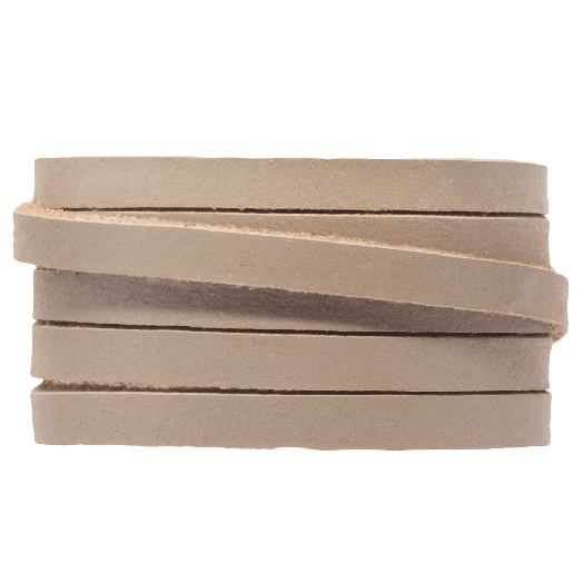 DQ Flat Leather (5 x 2 mm) Taupe (1 Meter)