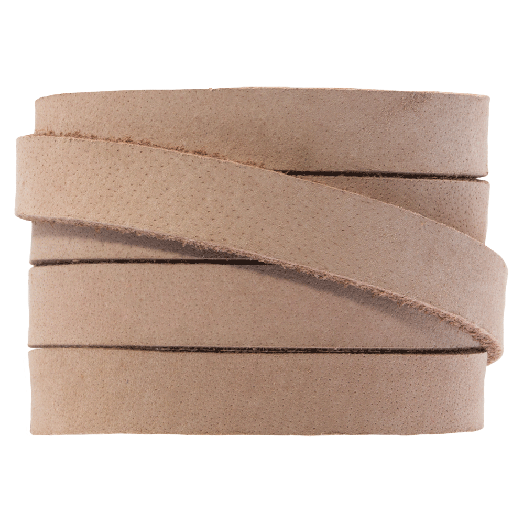 DQ Flat Leather (10 x 2 mm) Cream Brown (1 Meter)