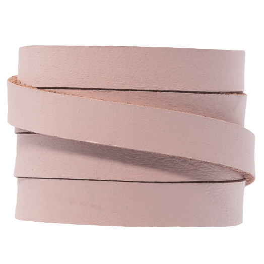DQ Flat Leather (10 x 2 mm) Baby Blush (1 Meter)