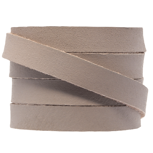 DQ Flat Leather (10 x 2 mm) Taupe (1 Meter)