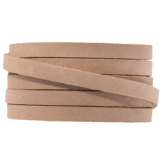 DQ Flat Leather (5 x 2 mm) Cream Brown (1 Meter)