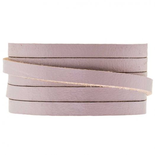 DQ Flat Leather (5 x 2 mm) Lilac Haze (1 Meter)