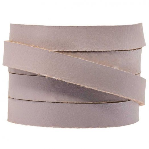 DQ Flat Leather (10 x 2 mm) Lilac Haze (1 Meter)