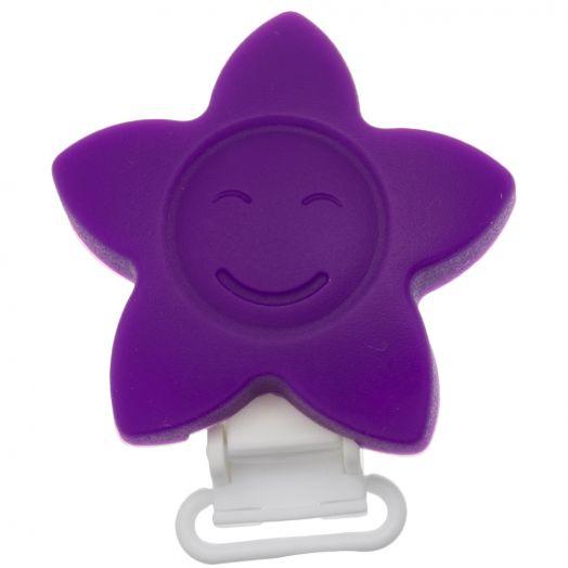 Silicone Clip Star (62 mm) Purple (1 pcs)