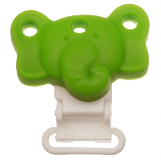 Silicone Clip Elephant (42 mm) Clear Green (1 pcs)