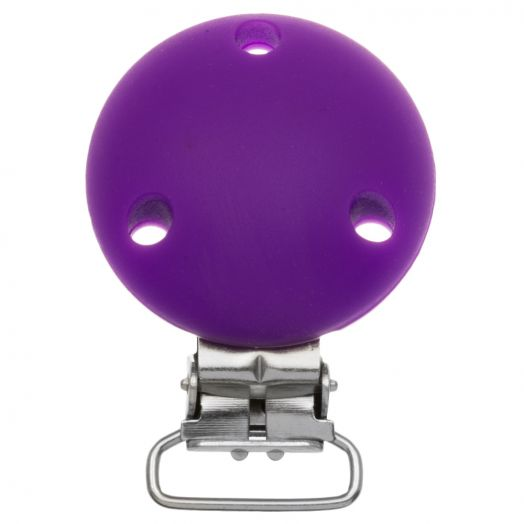Silicone Clip Circle (50 mm) Purple (1 pcs)