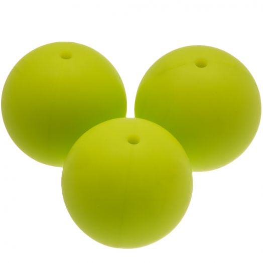 Silicone Beads (20 mm) Lime (4 pcs)