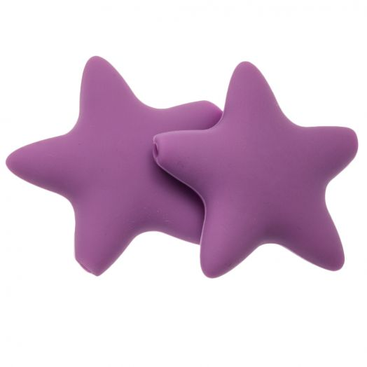 Silicone Beads Stern (36 mm) Wisteria Purple (2 pcs)