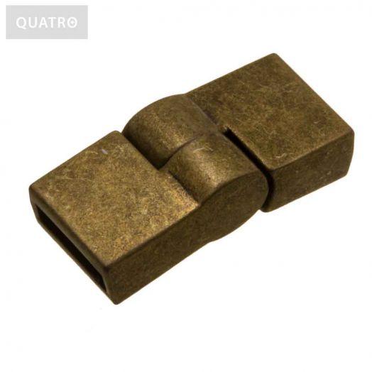 Magnetic Clasps (hole size 10 x 2 mm) Bronze (1 pcs)