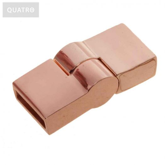 Magnetic Clasps (hole size 10 x 2 mm) Rose Gold (1 pcs)