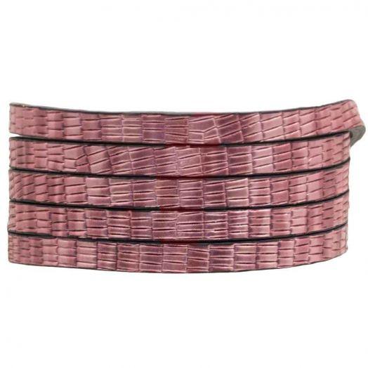 Flat Cord (5 x 2 mm) Metallic Pink (1 Meter)