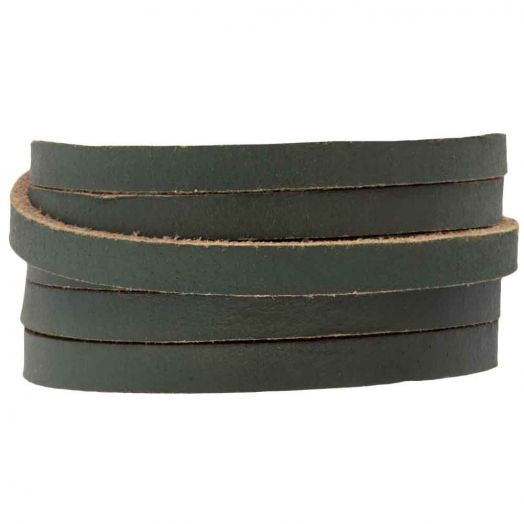 DQ Flat Leather (5 x 2 mm) Pine Green (1 Meter)
