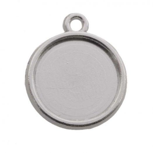 Connectors 1 eye (12 mm) Antique Silver (10 pcs)