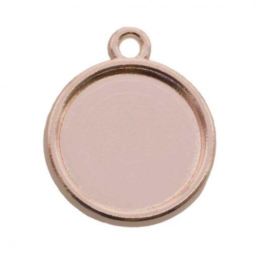 Connectors 1 eye (12 mm) Rose Gold (10 pcs)