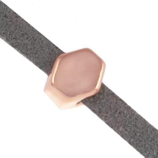 Slider (Hole size 3 x 2 mm) Rose Gold (10 pcs)