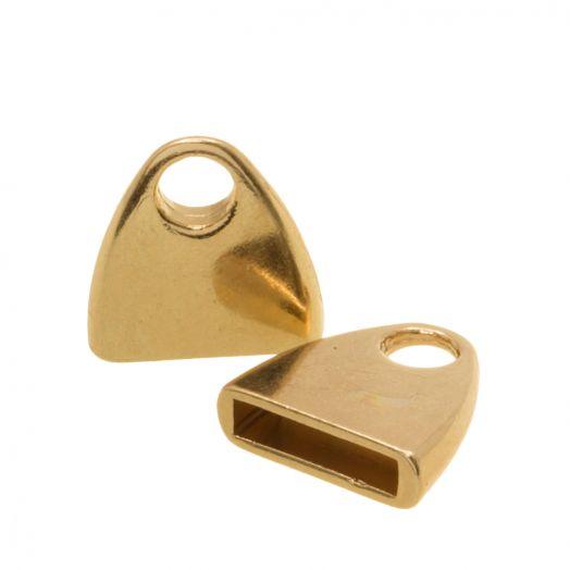 Endcaps (hole size 10 x 2.4 mm) Gold (5 pcs)