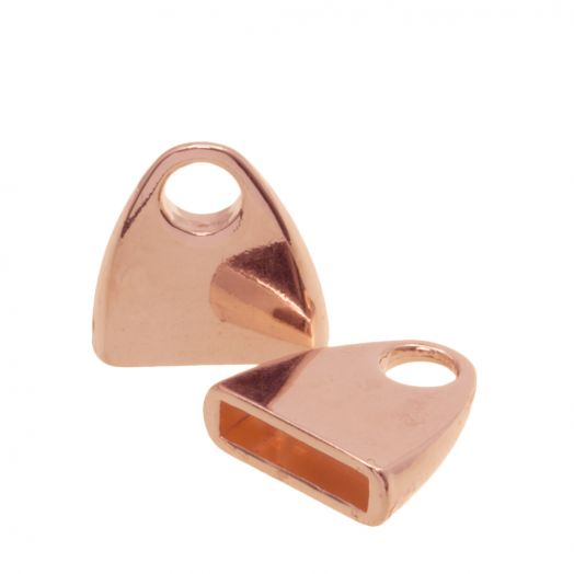 Endcaps (hole size 10 x 2.4 mm) Rose Gold (5 pcs)