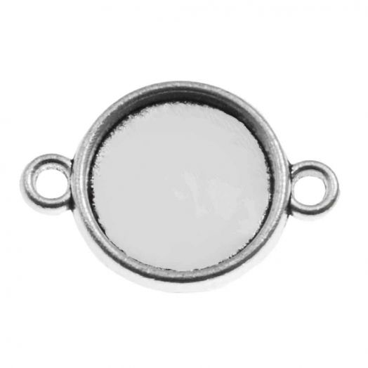 Setting 2 Eyes (12 mm) Antique Silver (10 pcs)