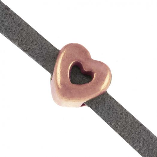 Slider (hole size 3 x 2 mm) Rose Gold (10 pieces)