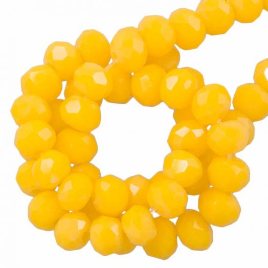 Faceted Beads Rondell (2 x 3 mm) Canary Yellow (150 pcs)