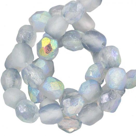 DQ Fire Polished Beads (4 mm) Blue Rainbow (50 pcs)