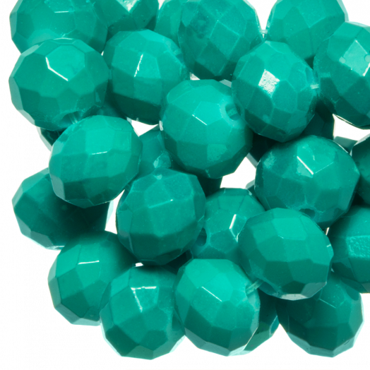 Faceted Beads Rondell (8 x 6 mm) Teal (72 pcs)