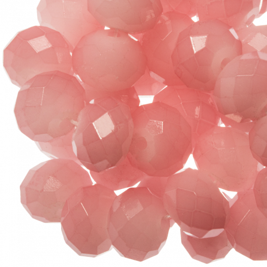 Faceted Beads Rondell (8 x 6 mm) Salmon Pink (72 pcs)