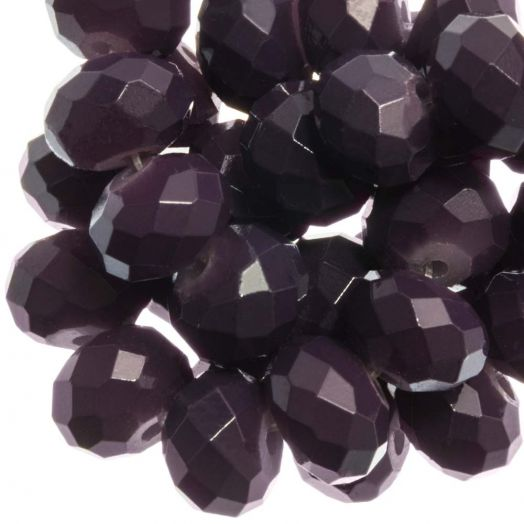 Faceted Beads Rondell (8 x 6 mm) Dark Grape (72 pcs)