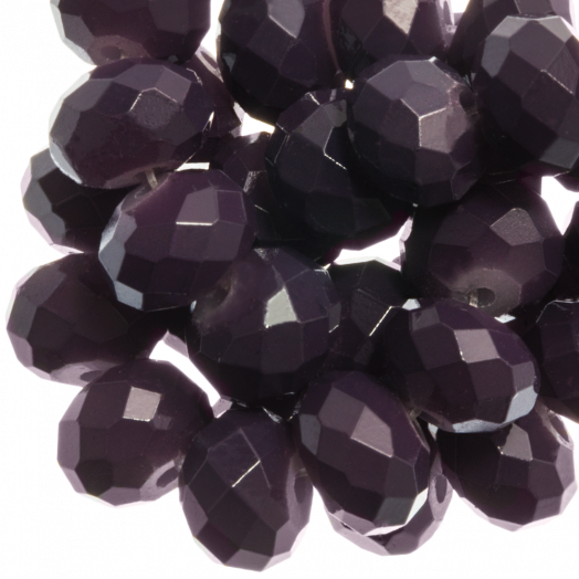 Faceted Beads Rondell (3 x 4 mm) Dark Grape (147 pcs)