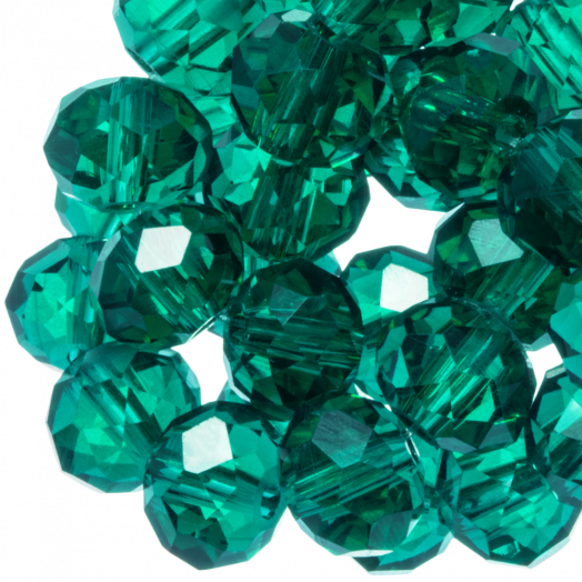 Faceted Beads Rondell (8 x 6 mm) Transparent Green (72 pcs)