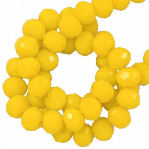 Faceted Beads Rondell (3 x 4 mm) Mustard Yellow (147 pcs)