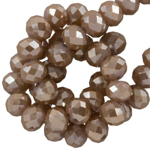 Faceted Beads Rondell (6 x 4 mm) Peanut (95 pcs)