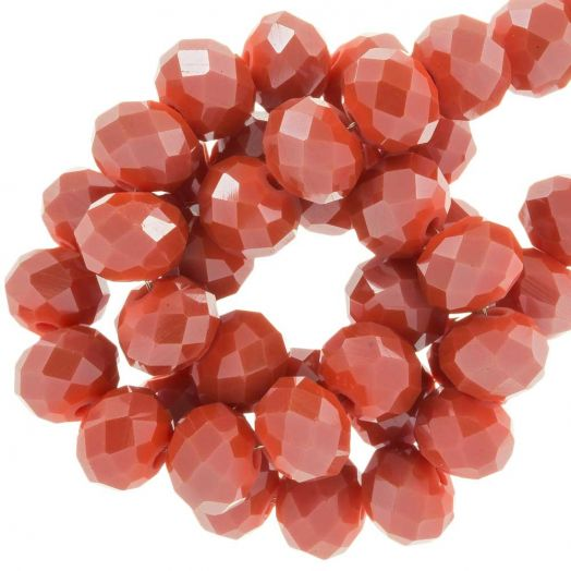 Faceted Beads Rondell (8 x 6 mm) Blush Red (72 pcs)