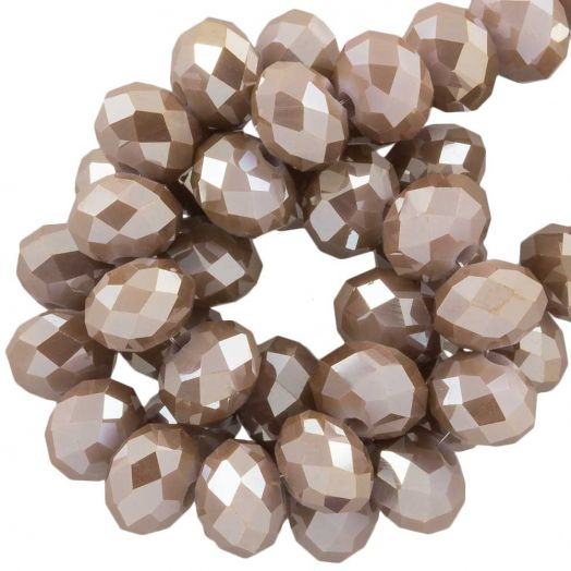 Faceted Beads Rondell (8 x 6 mm) Peanut (72 pcs)
