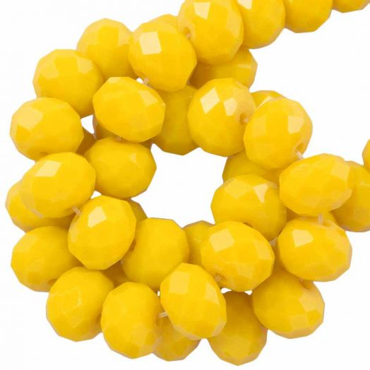 Faceted Beads Rondell (8 x 6 mm) Mustard Yellow (72 pcs)