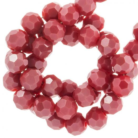 Faceted Beads Round (4 mm) Sangria Red (98 pcs)
