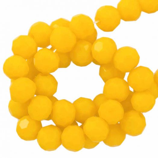 Faceted Beads Round (6 mm) Mustard Yellow (100 pcs)