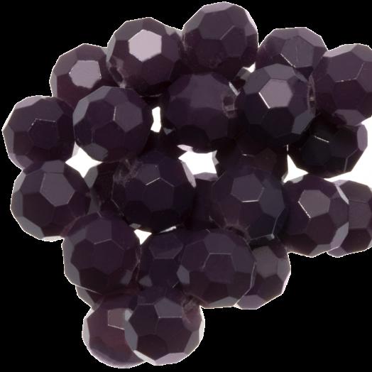 Faceted Beads Round (6 mm) Dark Grape (100 pcs)