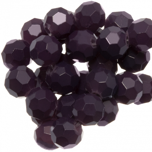 Faceted Beads Round (4 mm) Dark Grape (98 pcs)