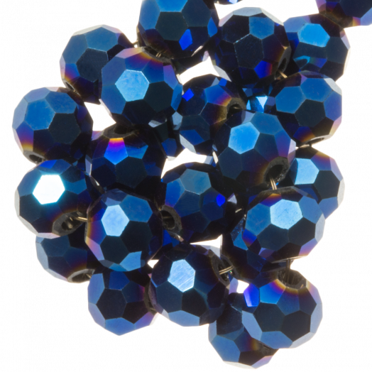 Faceted Beads Round (8 mm) Blue Shine (72 pcs)