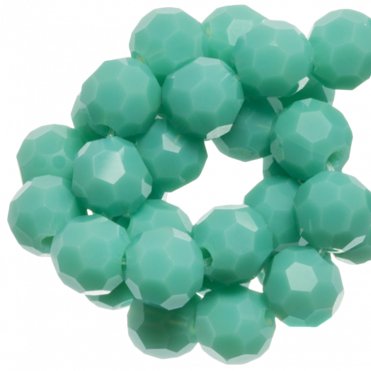 Faceted Beads Round (4 mm) Light Green Peppermint (98 pcs)
