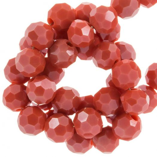 Faceted Beads Round (6 mm) Blush Red (100 pcs)