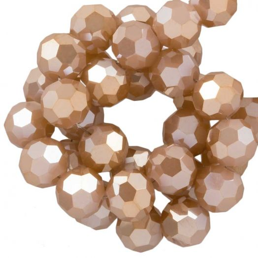 Faceted Beads Round (6 mm) Tawny (100 pcs)