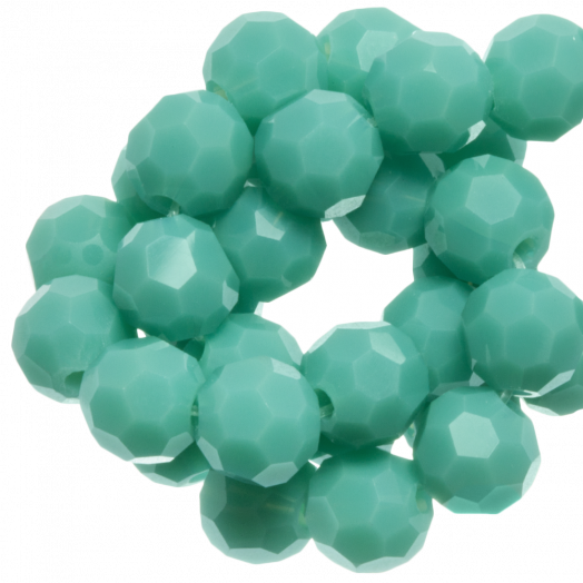 Faceted Beads Round (6 mm) Peppermint (100 pcs)