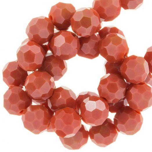 Faceted Beads Round (8 mm) Blush Red (72 pcs)