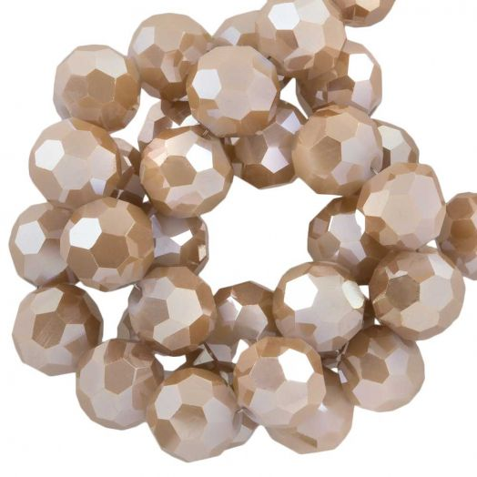 Faceted Beads Round (8 mm) Peanut (72 pcs)