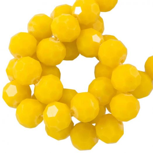 Faceted Beads Round (8 mm) Mustard Yellow (72 pcs)