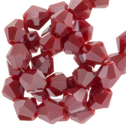 Faceted Beads Bicone (6 mm) Sangria Red (50 pcs)